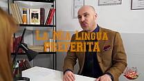 """Image: Luca Borromeo and Yukikon in Spicylab trailer """"La mia lingua preferita"""""""