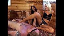 Mistress Lera and Mistress Julia Femdom Cabin pornhub video