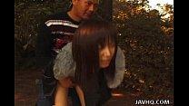 Kinky Outdoor Asian bondage action