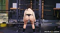 Big ass gym babe Mandy Muse anal fucked after squats Vorschaubild