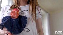 Belarus Teen Girl Olivia Grace Enjoys Masturbation With Smiling Puppet