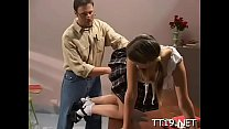 Large titted teacher gets her hot pussy and tig...