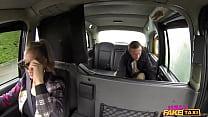 Female Fake Taxi Old flame taken on a detour ride