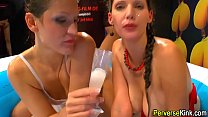 Slutty babes drinking pee