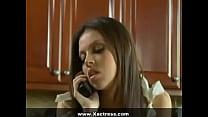 Hot Busty Brunette Babe Sara Stone Jerks Off Two Hard Long Dicks