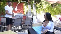 Busty Hardcore Pornstar Sybil Stallone Fucked Balls Deep By Huge Cock thumbnail