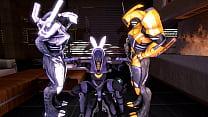 Mass Effect - Tali'Zorah Nar Rayya and geth threesome