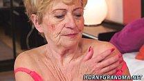 Lingerie Granny Cummed