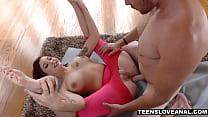 Yoga instructor fucks luscious redhead teen in her big ass thumbnail