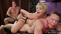 Huge tits wife anal fucks husband thumb
