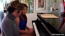 Hairy pussy eat en by her piano teacher  teacher