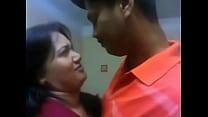 Indian aunty hot kiss