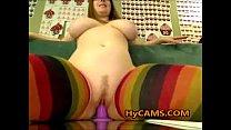 Busty Hottie Riding Dildo In Mirror
