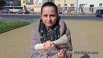 Czech amateur fucking pov in public for cash thumbnail
