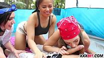 Dirty school girls ~ Camping girls sharing a dick thumbnail