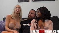 Noemie Bilas, Vannessa Skye, and the First White guy on FreakMobMedia.com thumbnail