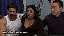Dorm Room Threesome With Tranny