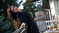 Titty Teenie Showing Herself On The Balcony - Xczech.com