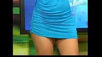 Wendy Vargas modeling blue dress