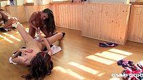 anikka albrite ass • Gym fuck makes lesbian teens Amirah & Candy Sweet cum hard with sex toys thumbnail