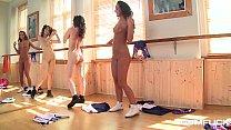 Gym fuck makes lesbian teens Amirah & Candy Swe...
