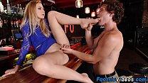 Teen gets feet cumshot video