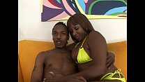 Ebony fat as s chick riding big cock