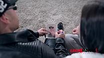 Barely legal petite teen Kristy Black rides Rocker's big boner with her ass GP480
