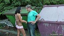 German Huge Tit Teen Fuck with older Stranger Outdoor Vorschaubild