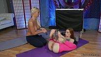 Redhead yoga instructor anal fucks blonde Image