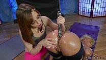 Redhead yoga instructor anal fucks blonde