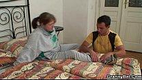 Injured granny takes his horny cock [할머니 granny]