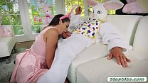 Avi Love gets her hairy muff drilled by horny easter bunny Preview
