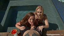 lezley zen yoga, Virtual Threesome with Maddy O'Reilly and Sierra Nicole thumbnail