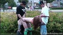 Hot teen Alexis Crystal PUBLIC gangbang orgy wi...