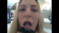 Blond eating her juice pantie - Download mp4 XXX porn videos