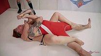 Bad ass extraordinaire Mistress Kara strokes Will Havoc to a win in the ring thumbnail