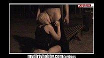 Blonde Schlampe nachts auf Parkbank gefickt Vorschaubild
