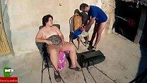 fat woman sunbathes nude ADR00129 pornhub video