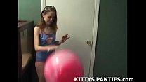Petite teen belly dancer Kitty teasing