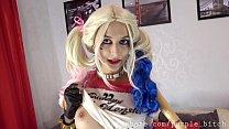 PURPLE BITCH ANAL Harley Quinn cosplay FUCK MACHINE