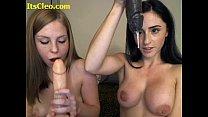 double blowjob on webcam