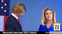 Donald Drumpf fucks Hillary Clayton during a de...