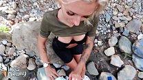 5818 Blonde Blowjob Big Dick and Handjob Outdoor - Oral Creampie preview