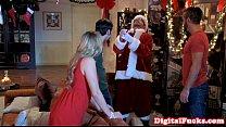 bj after babe beautiful facializing Santa