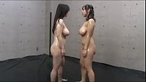Tit slapping Big tit Japanese Lesbians