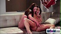 Angela White n Eva Lovia lick while covered in birthday cake