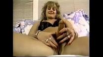 Blond Buxom Hermaphrodite Jerks Off As She Fucks Herself With Huge Dildo.
