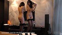 mira and bree haze strip tease then strap-on