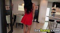 Cute Latina Luna Star Shows Off Her Sweet Ass in Tight Red Dress Vorschaubild